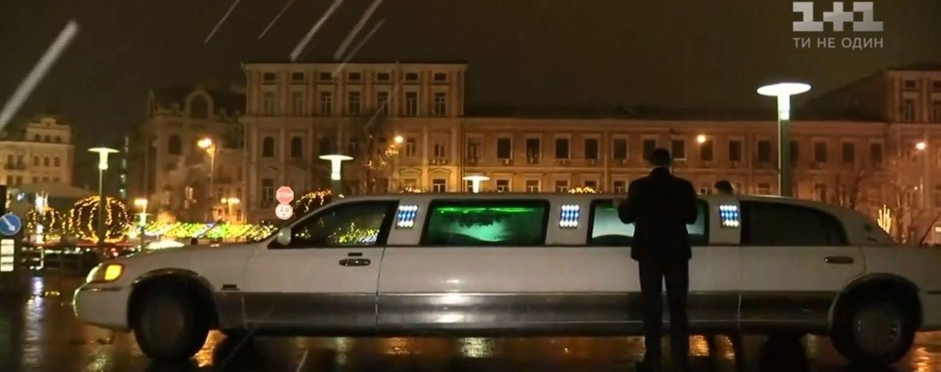 В Киеве в честь Нового года ездит бесплатное такси-лимузин