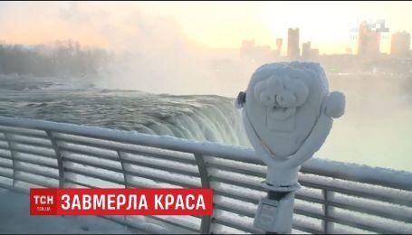 В США из-за рекордных морозов замерз Ниагарский водопад