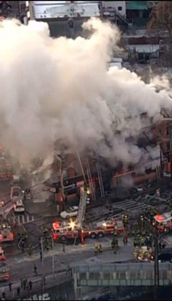 Крупный пожар в Нью-Йорке. В районе Бронкс горит многоэтажка