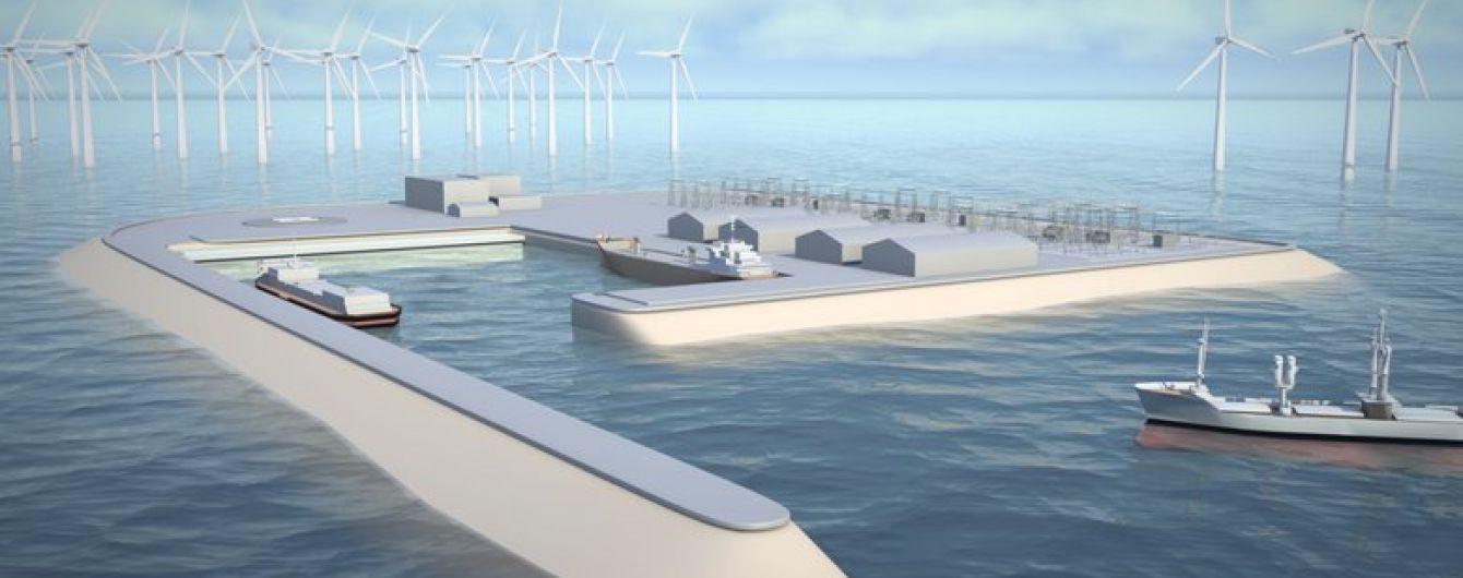 Нидерланды планируют создать крупнейшую в мире ветряную электростанцию с искусственным островом