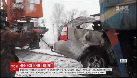 В Украине за год на железнодорожных переездах погибли 12 человек