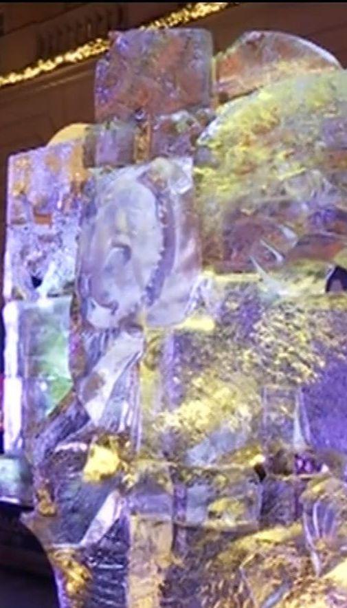 У Львові скульптори витесали з льоду дивовижні фігури