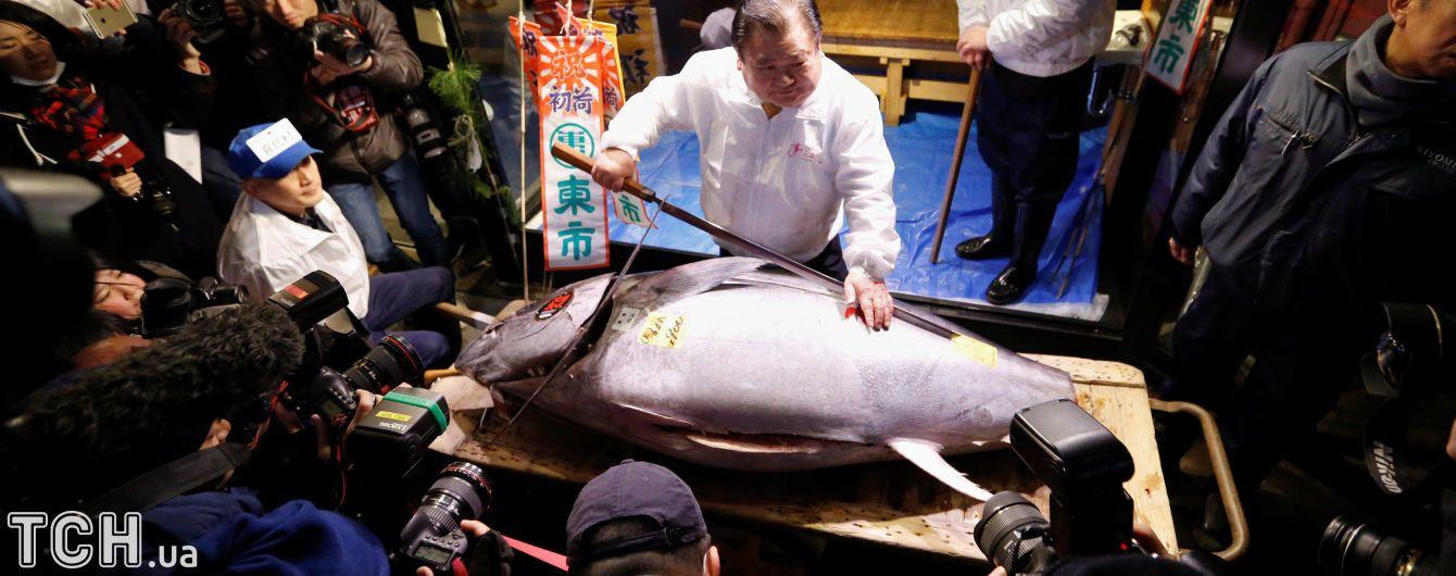 На самом известном рынке в Токио продан огромный голубой тунец за 323 тысяч долларов США