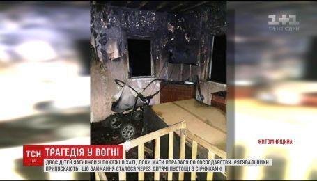 В пожаре на Житомирщине погибли двое маленьких детей