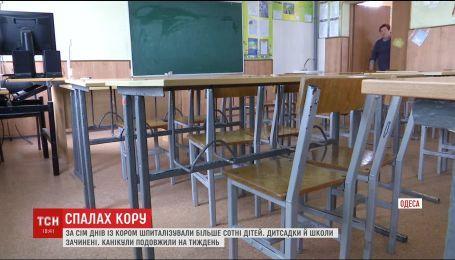 Через епідемію кору на Одещині закривають школи та дитсадки