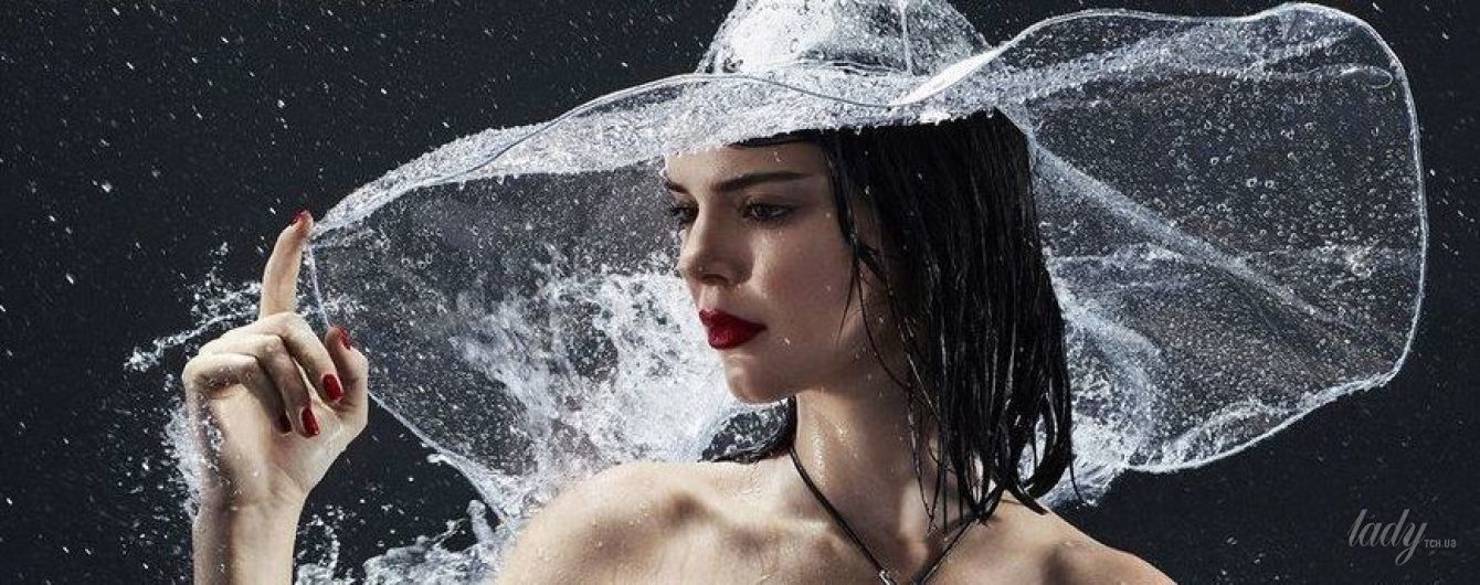 Обнаженная под дождем: эффектный новый фотосет с Кендалл Дженнер