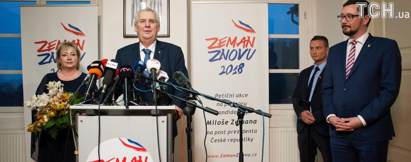Проросійський кандидат Земан переміг у першому турі виборів президента Чехії