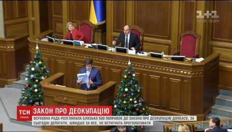 В ВР попытаются принять закон о деоккупации Донбасса