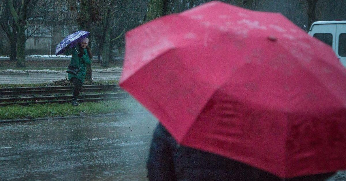 Злива в Одесі 18 січня @ УНІАН