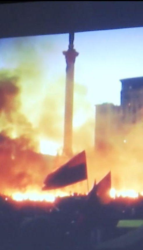 Криваве Водохреще: на Майдані вшанували перших загиблих у січні 2014 року