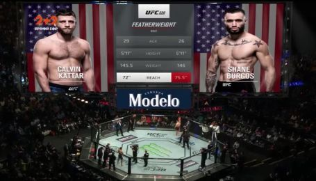 UFC 220. Келвин Каттар - Шейн Боргос. Видео боя
