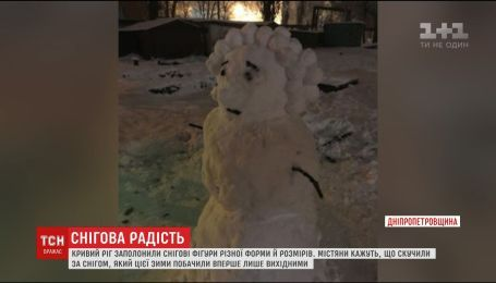 Кривой Рог заполонили снеговики