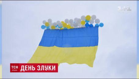Украинский флаг в День соборности подняли над оккупированной Луганщине