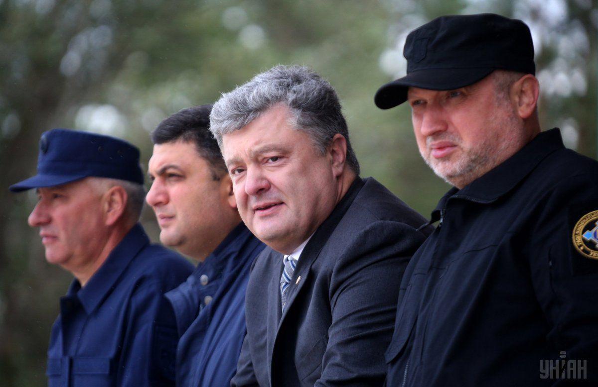 Петро Порошенко, Володимир Гройсман, Олександр Турчинов