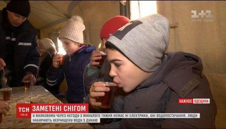 В Вилково из-за непогоды с прошлой недели нет ни электричества, ни водоснабжения
