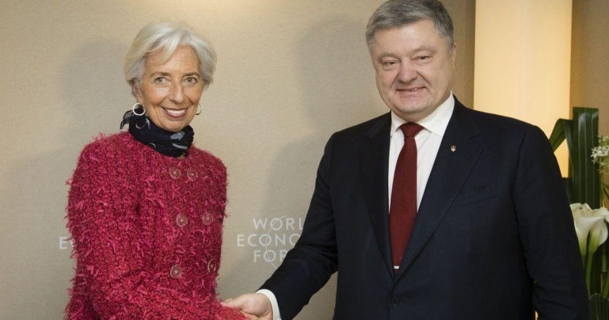 Порошенко рассказал об итогах переговоров с МВФ и Мировым банком в Давосе