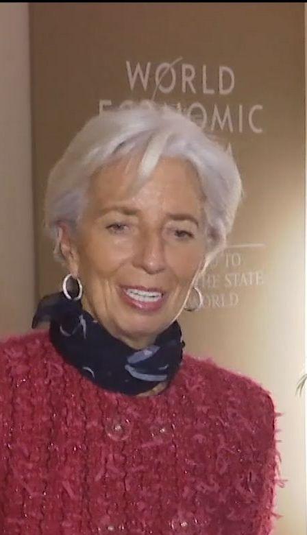 Порошенко зустрівся із головою міжнародного валютного фонду Крістін Лагард у Давосі