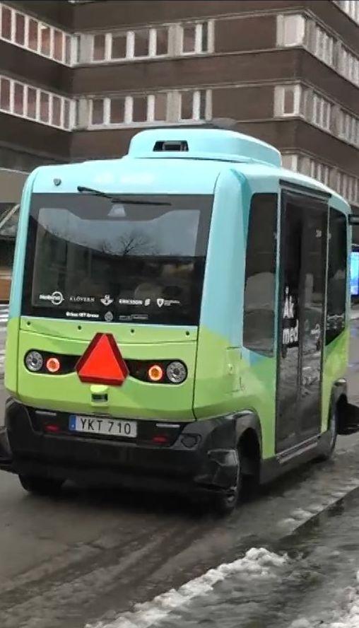 У Стокгольмі запустили безкоштовний автобус без водія