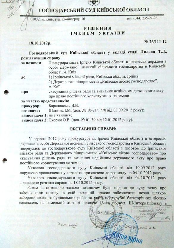 решение о возвращении в государственную собственность 15 гектаров леса