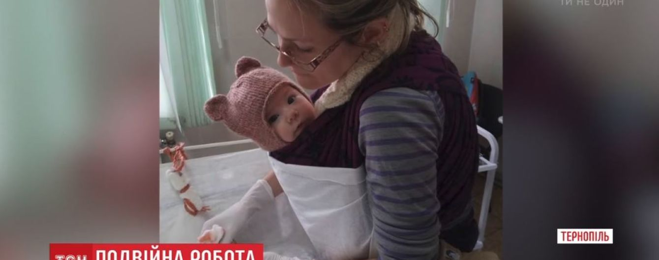"""Ветеринар, яка оперує з 4-місячною донькою """"на руках"""", вразила Мережу"""