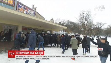 Во Львове акция по цирк без животных переросла в столкновения с полицией