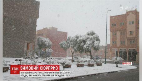 В Марокко впервые за полвека выпал снег