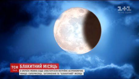Люди смогут наблюдать тройное астрономическое явление с месяцем