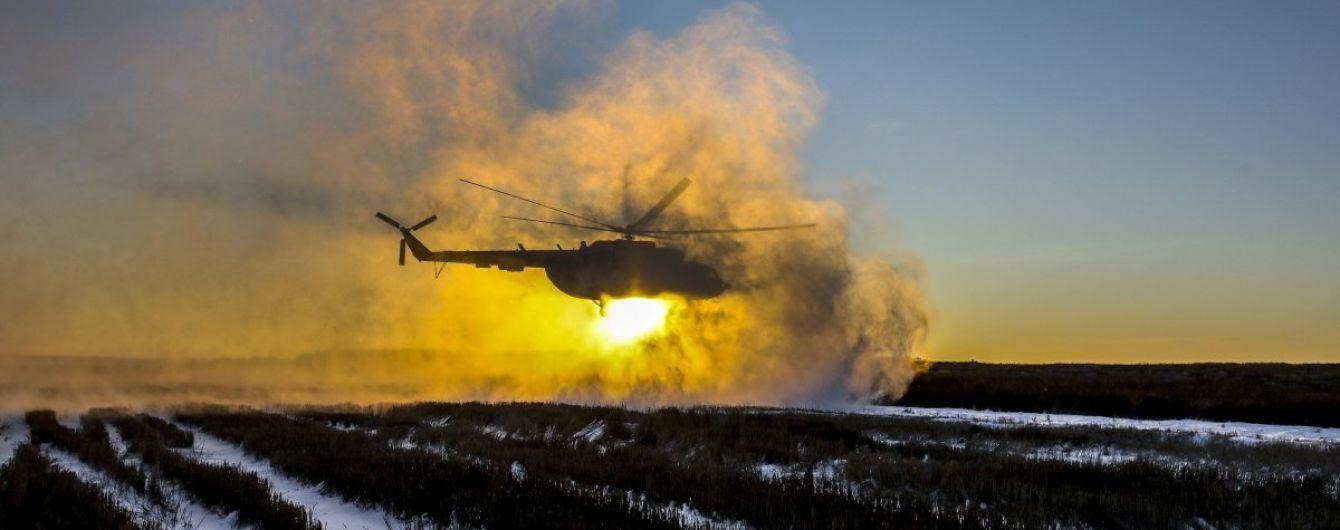 В Чечне упал российский вертолет с людьми