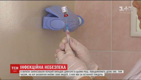 В Україні зафіксували перший випадок дифтерії в цьому році