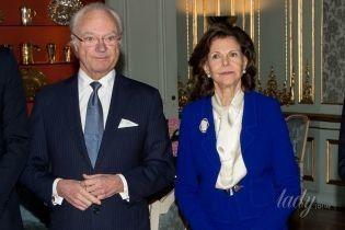 Яркая королева: 74-летняя Сильвия на торжественном приеме во дворце