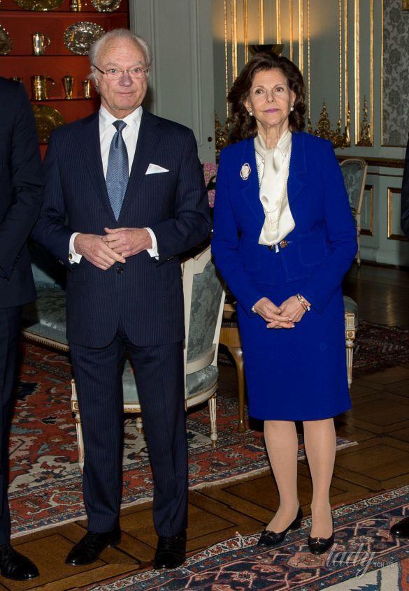 Королева Сильвия и Карл Густав