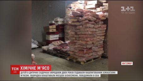 В Житомире предприниматели в детские сады доставляли мясо с химикатами