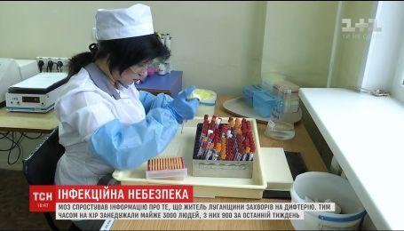 МОЗ оприлюднило результати аналізів на дифтерію у жителя Луганщини