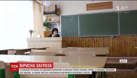 У кількох регіонах України оголосили карантин у школах через спалах грипу