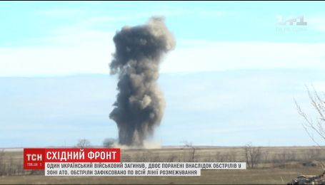На фронте враг в течении суток бил по украинским позициям из минометов и пулеметов
