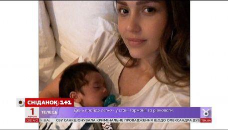 Джессика Альба впервые опубликовала совместное фото с новорожденным сыном