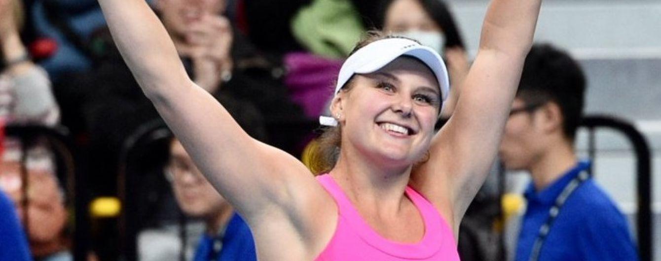 Українська тенісистка Козлова пробилася у дебютний фінал турнірів WTA