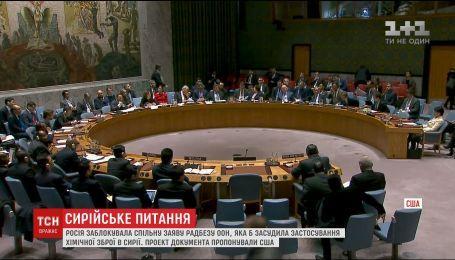РФ заблокировала заявление Совбеза ООН, что осудило бы применение химического оружия в Сирии