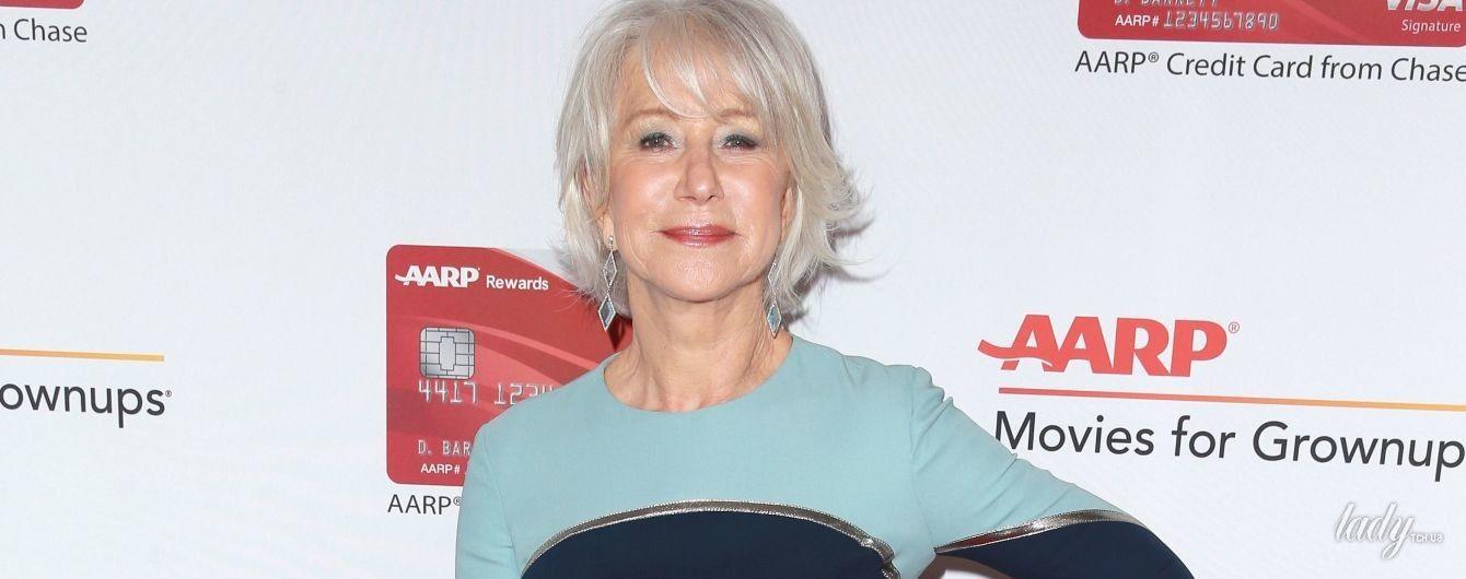 72-летняя Хелен Миррен подчеркнула тонкую талию дорогим платьем от Victoria Beckham