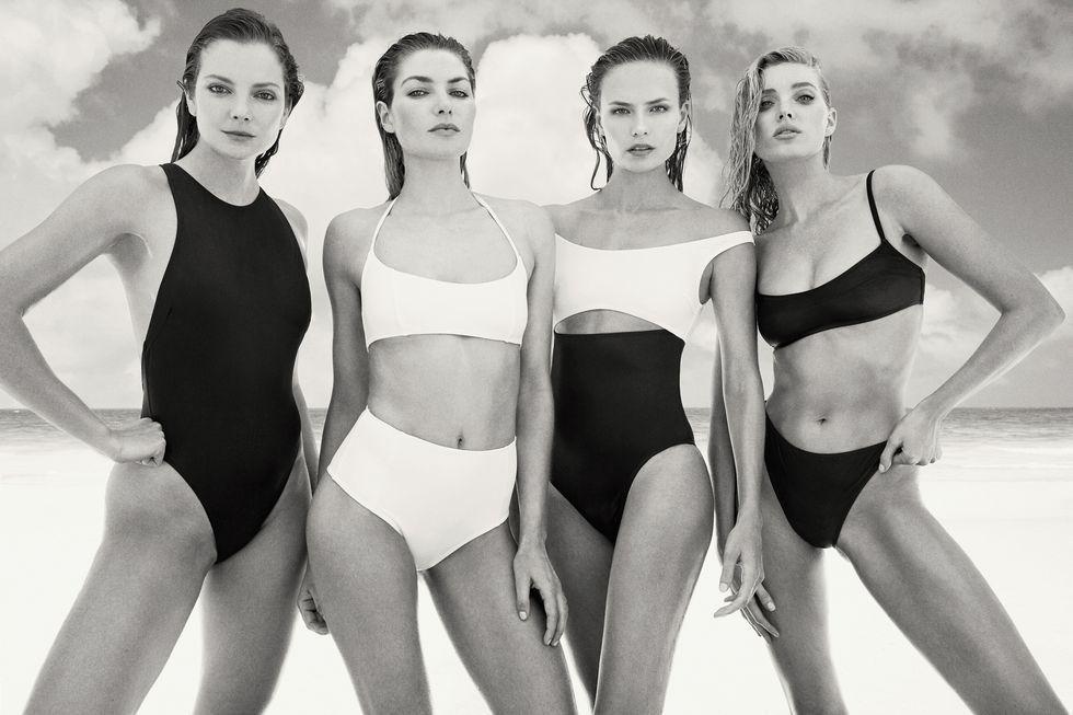 Модели в рекламе купальников Solid & Striped Swim_8