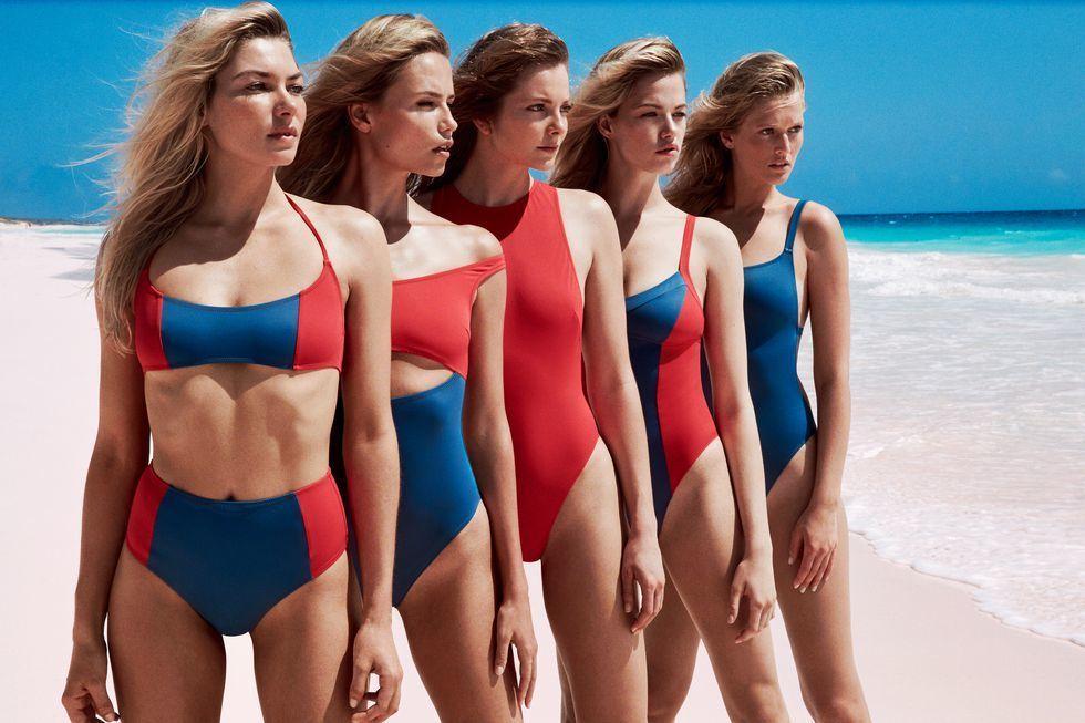 Модели в рекламе купальников Solid & Striped Swim_7