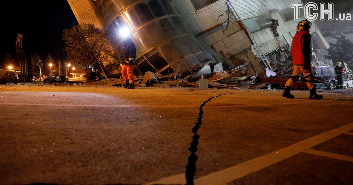 На Тайвані удвічі збільшилася кількість постраждалих унаслідок потужного землетрусу