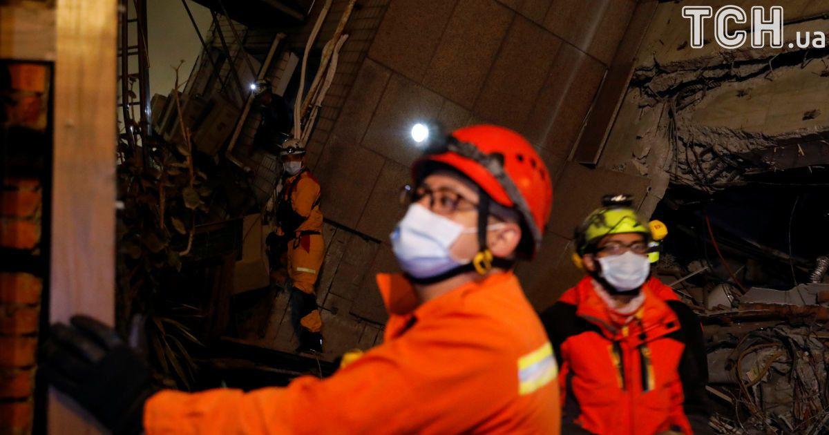 На Тайване вдвое увеличилось количество пострадавших в результате мощного землетрясения