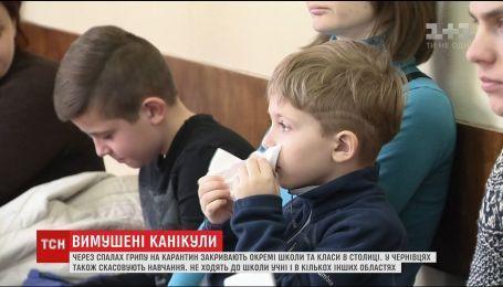 У столиці близько 30 тисяч школярів захворіли на грип