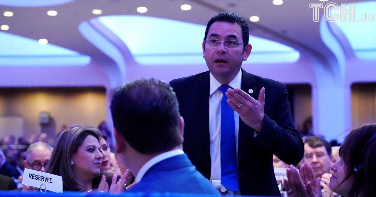 Президент Гватемали Джиммі Моралес тримає слово. @ Reuters