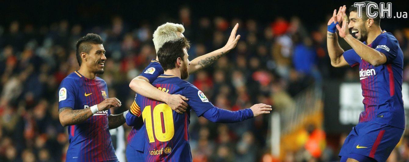 """""""Барселона"""" с рядом рекордов сумела пробиться в финал Кубка Испании"""