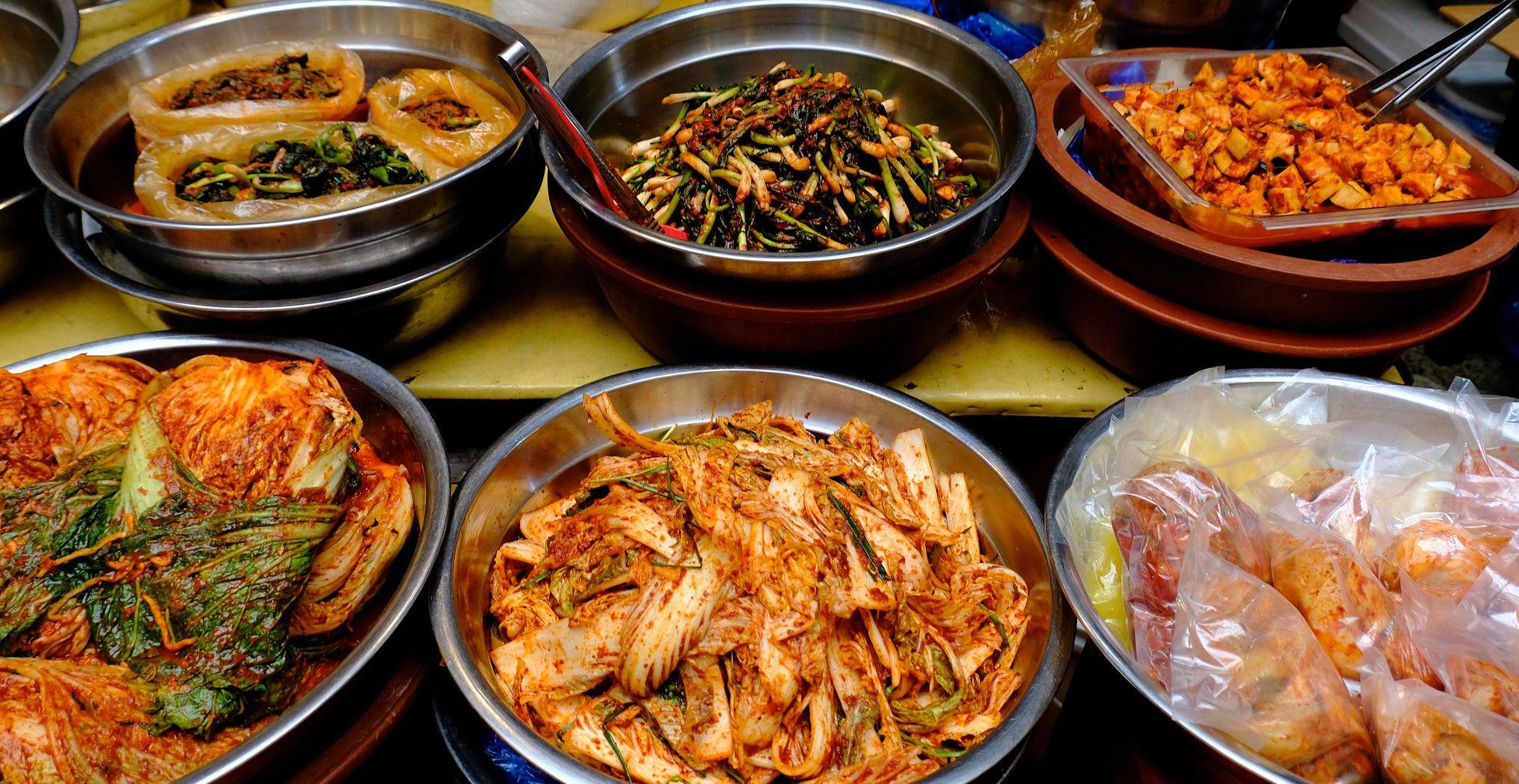 Корейська кухня, морепродукти, салат