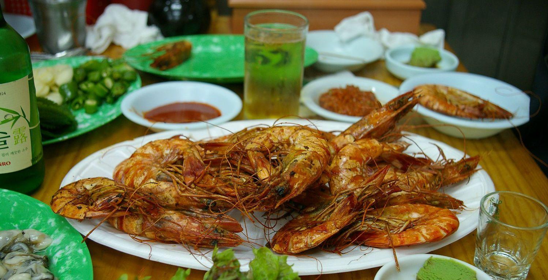 Морепродукти, креветки, страва з морепродуктів