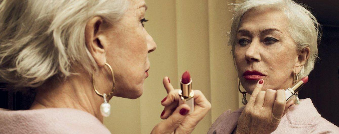 На шпильках и с яркой помадой: 72-летняя Хелен Миррен в новом фотосете для глянца