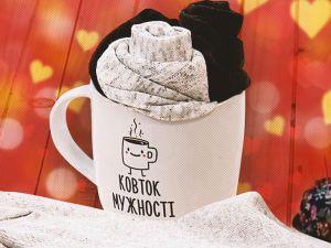 Бессердечная валентинка для любимого: букет из носков